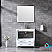"""36"""" White Single Vanity, Integrated Top, White Integrated Square Sink and no Mirror"""