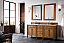 """James Martin Brittany Collection 72"""" Saddle Brown Double Vanity"""