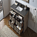 """48"""" Free Standing Wood Vanity in Brown with Marble Top, No Faucet"""