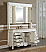 """60"""" Antique White with Matching Medicine Cabinet, Imperial White Marble Top"""