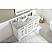 """60"""" Single Vanity in White Finish with Carrara White Marble Top"""