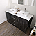 """60"""" Double Cabinet in Midnight Oak Finish with Top Options"""