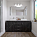 """72"""" Double Cabinet in Midnight Oak Finish with Top Options"""
