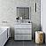 """36"""" Floor Standing Modern Bathroom Vanity w/ Mirror in Rustic White"""