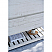"36"" Floor Standing Modern Bathroom Vanity w/ Open Bottom & Mirror in Rustic White"