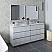 """72"""" Floor Standing Double Sink Modern Bathroom Vanity w/ Mirrors in Rustic White"""