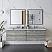 "72"" Wall Hung Double Sink Modern Bathroom Vanity w/ Mirrors in Ash"