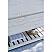 "84"" Floor Standing Double Sink Modern Bathroom Vanity w/ Open Bottom & Mirrors in Rustic White"
