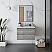 "30"" Wall Hung Modern Bathroom Vanity w/ Mirror in Ash"