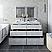 """60"""" Floor Standing Double Sink Modern Bathroom Vanity w/ Mirrors in Rustic White"""