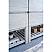 "60"" Floor Standing Double Sink Modern Bathroom Vanity w/ Open Bottom & Mirrors in Rustic White"