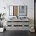 "60"" Wall Hung Double Sink Modern Bathroom Vanity w/ Mirrors in Ash"