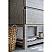 """60"""" Floor Standing Double Sink Modern Bathroom Vanity w/ Open Bottom & Mirrors in Ash"""