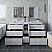 "72"" Floor Standing Double Sink Modern Bathroom Vanity w/ Mirrors in Rustic White Finish"