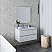 """36"""" Wall Hung Modern Bathroom Cabinet w/ Top & Sink in Rustic White"""