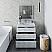 "36"" Floor Standing Modern Bathroom Cabinet w/ Top & Sink in Rustic White"