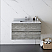 "36"" Wall Hung Modern Bathroom Cabinet w/ Top & Sink in Ash"