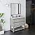 """36"""" Floor Standing Open Bottom Modern Bathroom Cabinet w/ Top & Sink in Ash"""