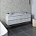 """72"""" Wall Hung Double Sink Modern Bathroom Cabinet w/ Top & Sinks in Rustic White"""