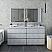 "72"" Floor Standing Double Sink Modern Bathroom Cabinet w/ Top & Sinks in Rustic White"