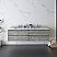 "72"" Wall Hung Double Sink Modern Bathroom Cabinet w/ Top & Sinks in Ash"