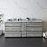 """84"""" Floor Standing Double Sink Modern Bathroom Cabinet w/ Top & Sinks in Ash"""