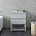 "30"" Floor Standing Open Bottom Modern Bathroom Cabinet w/ Top & Sink in Rustic White"