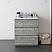 "30"" Floor Standing Modern Bathroom Cabinet w/ Top & Sink in Ash"