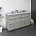 """60"""" Floor Standing Double Sink Modern Bathroom Cabinet w/ Top & Sinks in Ash"""