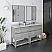 """60"""" Floor Standing Open Bottom Double Sink Modern Bathroom Cabinet w/ Top & Sinks in Ash"""