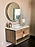 """36"""" Single Sink Bathroom Vanity Solid Mango Wood with White Quartz Counter Top with Subtle Grey Veining"""