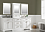 """96"""" Bath Vanity in White with Carrara Marble Vanity Top in White with White Basin"""