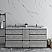 "72"" Floor Standing Double Sink Modern Bathroom Cabinet w/ Top & Sinks in Ash Finish"