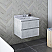 """24"""" Wall Hung Modern Bathroom Cabinet w/ Top & Sink in Rustic White"""