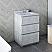 "24"" Floor Standing Modern Bathr24"" Floor Standing Modern Bathroom Cabinet w/ Top & Sink in Rustic Whiteoom Cabinet w/ Top & Sink in Rustic White"