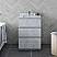 "24"" Floor Standing Modern Bathroom Cabinet w/ Top & Sink in Rustic White"