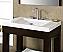 """Xylem Europa 24"""" Dark Walnut Modern Bathroom Sink"""