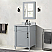 """24"""" Single Vanity in L/Gray with White Carrara Marble Top"""