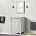 """24"""" Single Vanity in White with White Carrara Marble Top"""