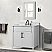 """36"""" Single Vanity in White with White Carrara Marble Top"""
