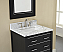 "Xylem Manhattan 24"" Black Contemporary Bathroom Top"