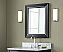 "Xylem Manhattan 24"" Black Contemporary Bathroom Mirror"