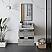 "24"" Wall Hung Modern Bathroom Cabinet w/ Top & Sink in Ash"