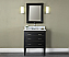 "Xylem Manhattan 30"" Black Contemporary Bathroom Vanity"