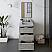 "24"" Floor Standing Modern Bathroom Cabinet w/ Top & Sink in Ash"