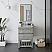 """24"""" Floor Standing Open Bottom Modern Bathroom Cabinet w/ Top & Sink in Ash"""