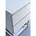 "60"" Floor Standing Open Bottom Double Sink Modern Bathroom Cabinet w/ Top & Sinks in Rustic White Finish"