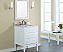 "Xylem Manhattan 24"" Contemporary Bathroom Vanity White Finish"