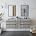 """60"""" Wall Hung Double Sink Modern Bathroom Cabinet w/ Top & Sinks in Ash Finish"""