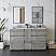 "60"" Floor Standing Double Sink Modern Bathroom Cabinet w/ Top & Sinks in Ash Finish"
